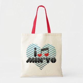 I Love Min'Yo Tote Bags