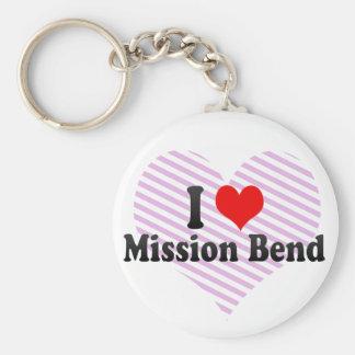 I Love Mission Bend, United States Key Chain