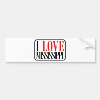 I Love Mississippi Design Bumper Sticker