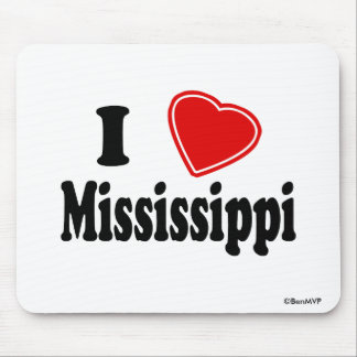 I Love Mississippi Mouse Pad