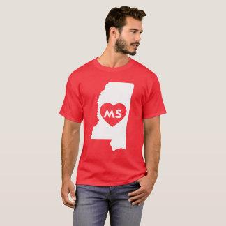 I Love Mississippi State Men's Basic Dark T-Shirt