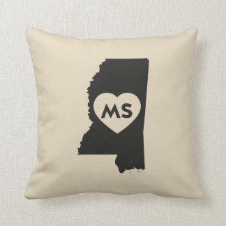 I Love Mississippi State Pillow