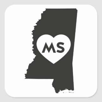 I Love Mississippi State Stickers