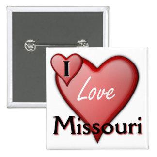 I Love Missouri 15 Cm Square Badge