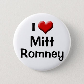 I Love Mitt Romney, Red Heart Button