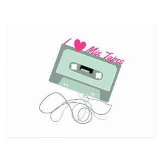 I Love Mix Tapes Postcard