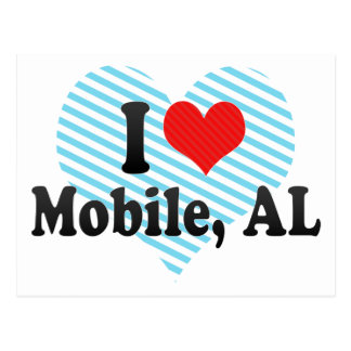 I Love Mobile, AL Postcard