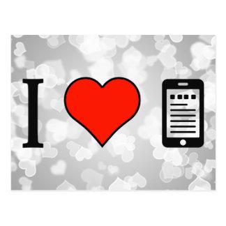I Love Mobile Analytics Postcard
