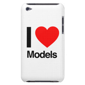 i love models iPod touch cases