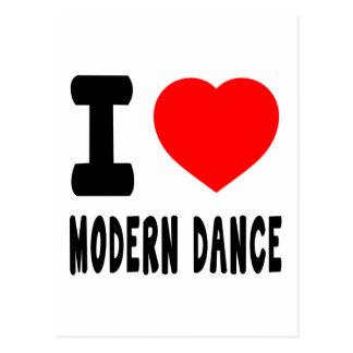 I Love Modern Dance Postcard
