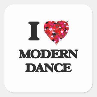 I Love Modern Dance Square Sticker