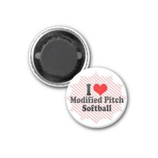 I love Modified Pitch Softball Refrigerator Magnets