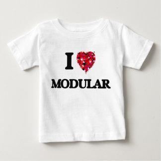 I Love Modular Baby T-Shirt