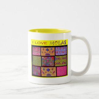 I Love Molas: Quilt Two-Tone Coffee Mug