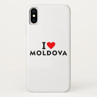 I love Moldova country like heart travel tourism iPhone X Case
