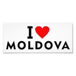 I love Moldova country like heart travel tourism Photo Print