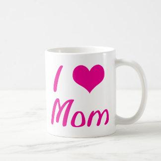 I Love Mom Basic White Mug
