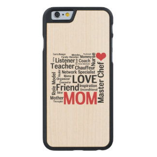 I Love Mom - Multitasking Master Chef Mother Carved Maple iPhone 6 Case