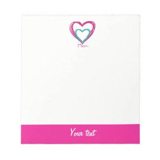 I love mom notepad