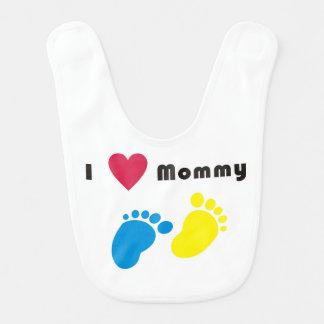 I love mommy baby bib