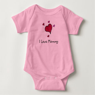 I Love Mommy Baby Bodysuit