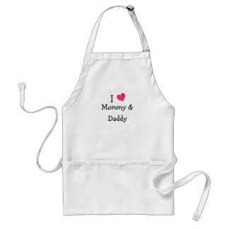 I Love Mommy & Daddy Standard Apron