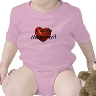 I Love Mommy Heart Logo Infant Creeper