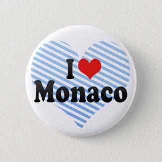 I Love Monaco 6 Cm Round Badge