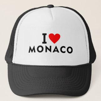 I love Monaco country like heart travel tourism Trucker Hat