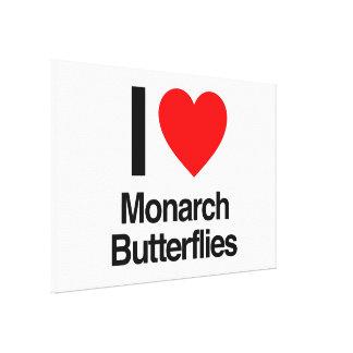 i love monarch butterflies canvas prints