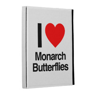 i love monarch butterflies iPad folio case