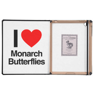 i love monarch butterflies case for iPad