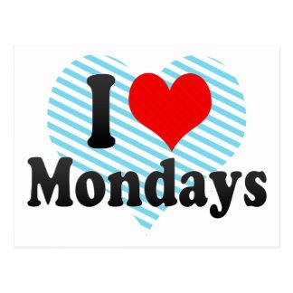 I Love Mondays Postcards