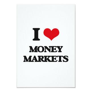 I Love Money Markets 3.5x5 Paper Invitation Card