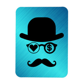 I Love Money Moustache London City Rectangular Photo Magnet