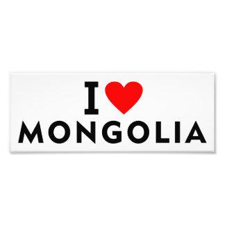 I love Mongolia country like heart travel tourism Photo Print