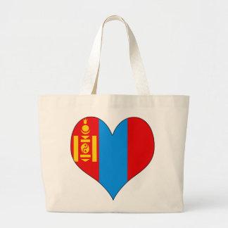 I Love Mongolia Large Tote Bag