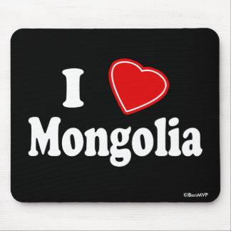 I Love Mongolia Mousepads