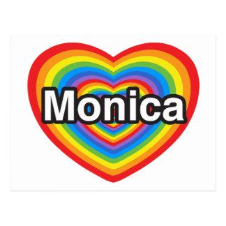 I love Monica I love you Monica Heart Post Card