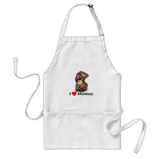 I love Monkeys Aprons