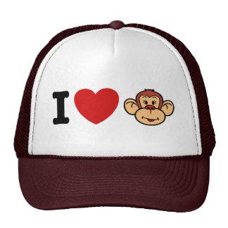I Love Monkeys Hats