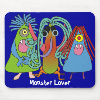 """I Love Monsters"" Gifts Mouse Pad"
