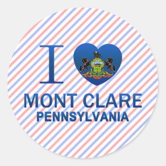 I Love Mont Clare, PA Classic Round Sticker