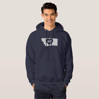 I Love Montana State Men's Hooded Sweatshirt