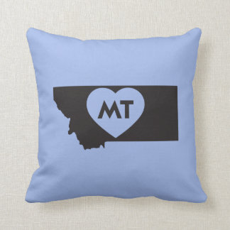 """I Love Montana State Throw Pillow 16"""" x 16"""""""