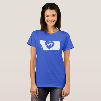 I Love Montana State Women's Basic T-Shirt