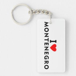 I love Montenegro country like heart travel touris Key Ring