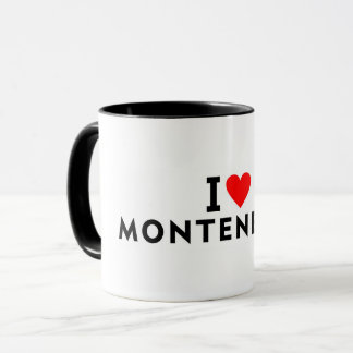 I love Montenegro country like heart travel touris Mug