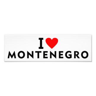 I love Montenegro country like heart travel touris Photo Print