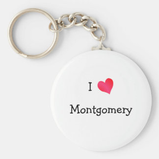 I Love Montgomery Keychain